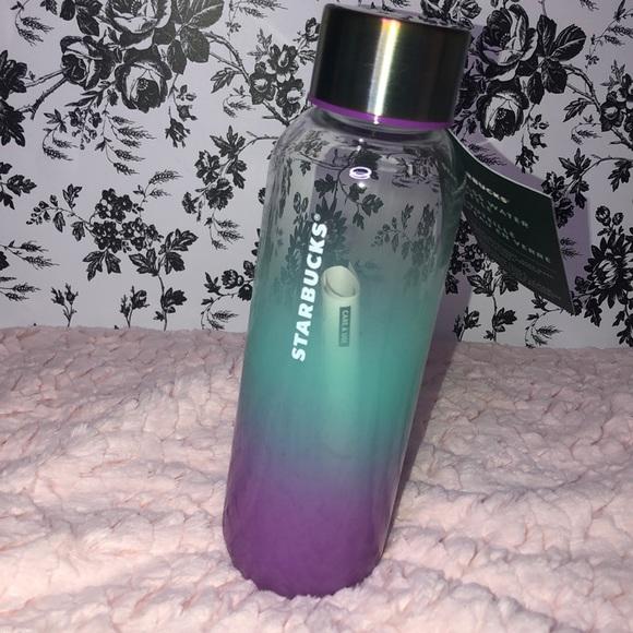 Ombre Glass Starbucks Water Bottle